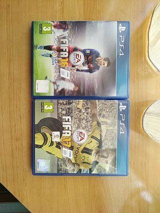 fifa 16 y fifa 17 PS4