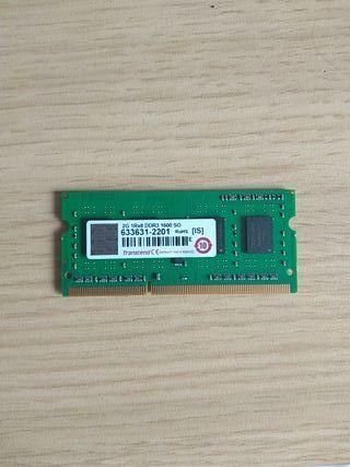 Memoria RAM DDR3 para portatil 2GB