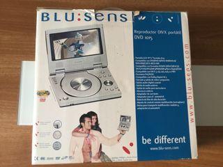 Reproductor de dvd divx portátil marca blu sens