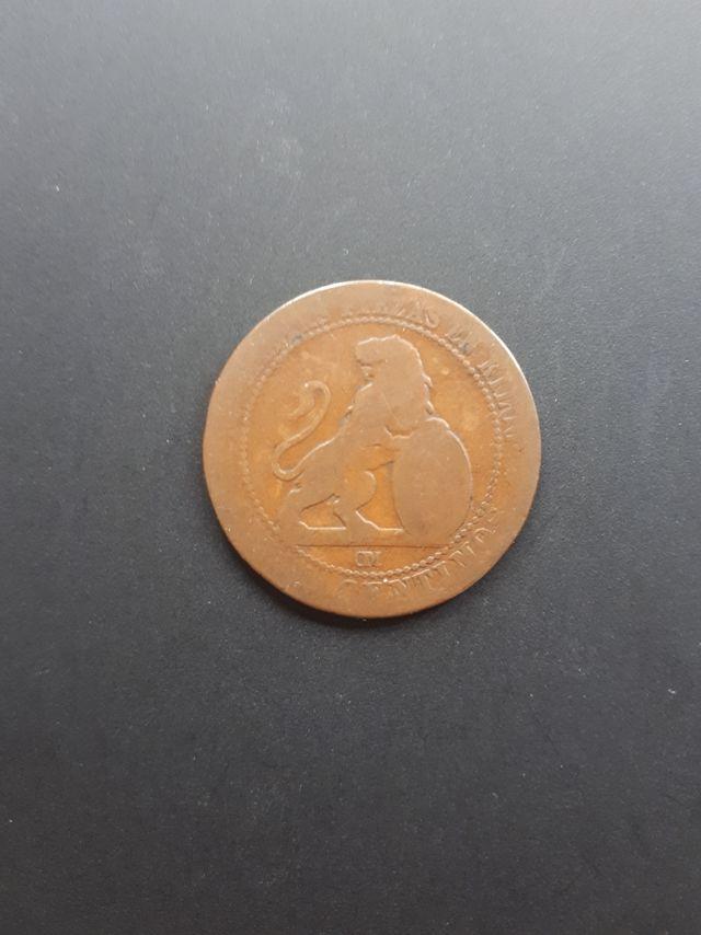 5 céntimos Gobierno Provisional