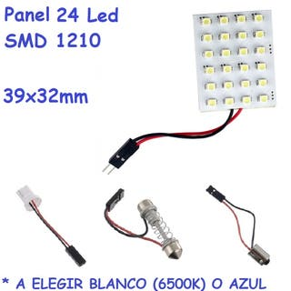 Panel de 24 led para coche luz de maletero 39x32mm