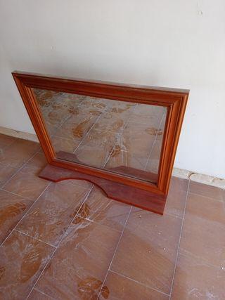 espejo en madera de pino