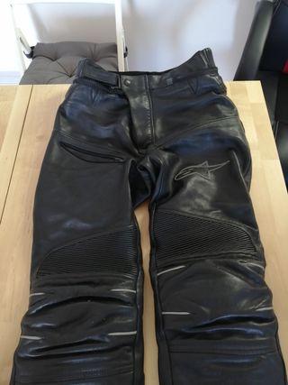 pantalón piel Alpinestars moto talla 48