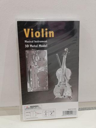 maqueta 3D metálica violín