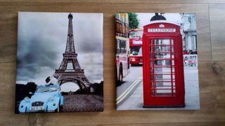 Lienzos cuadros París y Londres