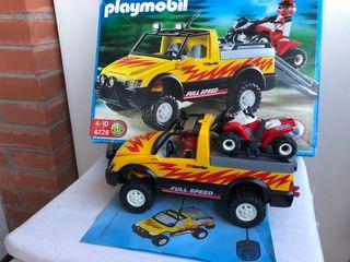 Playmobil pick up con quad