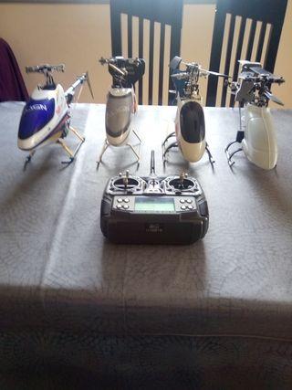 Helicópteros a radio control con emisora 6 canales