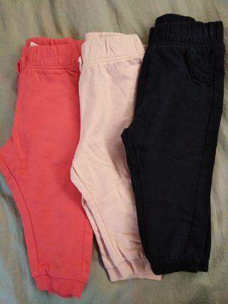 lote pantalones 9 12 meses niña