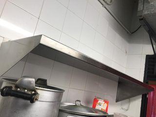 2 estanterías de acero inoxidable