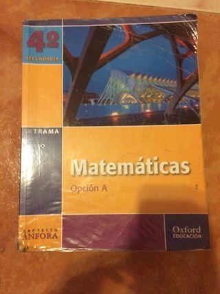Libro matemáticas 4 ESO editorial Oxford