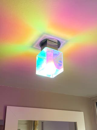 Plafonnier Design Cube plexiglass couleurs