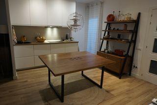 Mesa y estante de madera Diseño Vintage Industrial