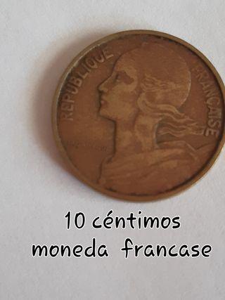10 centimos moneda francesa