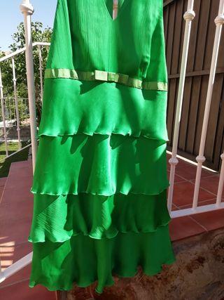 5d8d7eecf39 Vestido de fiesta volantes de segunda mano en Alcalá de Henares en ...