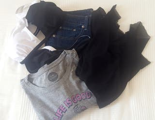 NUEVO. Sin uso. Jeans, bikini, camiseta, top noche