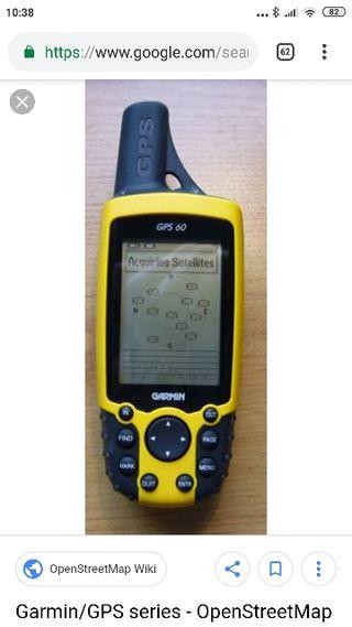 GPS montaña Garmin 60 gpx