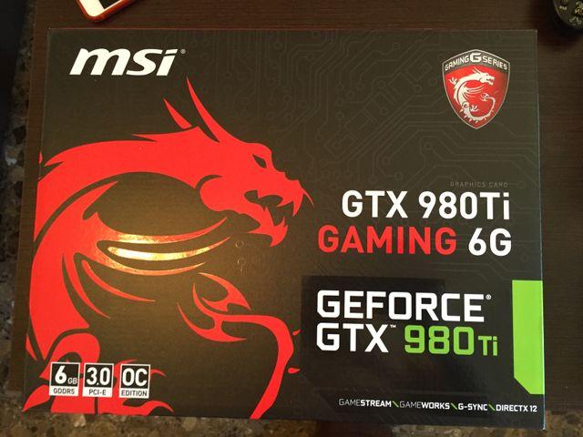 Nvidia Gtx 980Ti 6Gb MSI