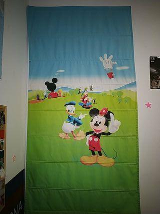 Cortina infantil de Mickey Mouse