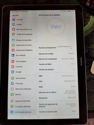 Huawei media pad 2 3g Ranura para Sim y para SD