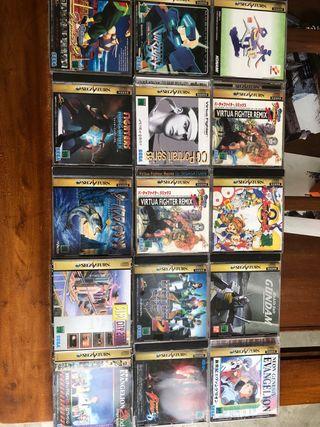 Lote de juegos Sega Saturn jp