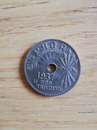 Moneda 25 centimos 1937