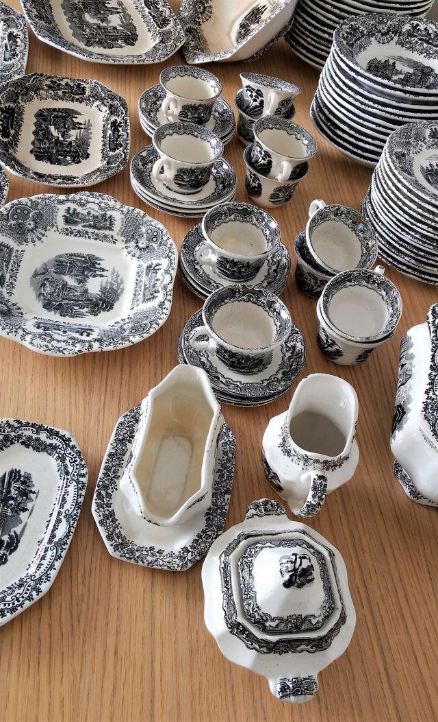 Vajilla La Cartuja Pickman Vistas porcelana