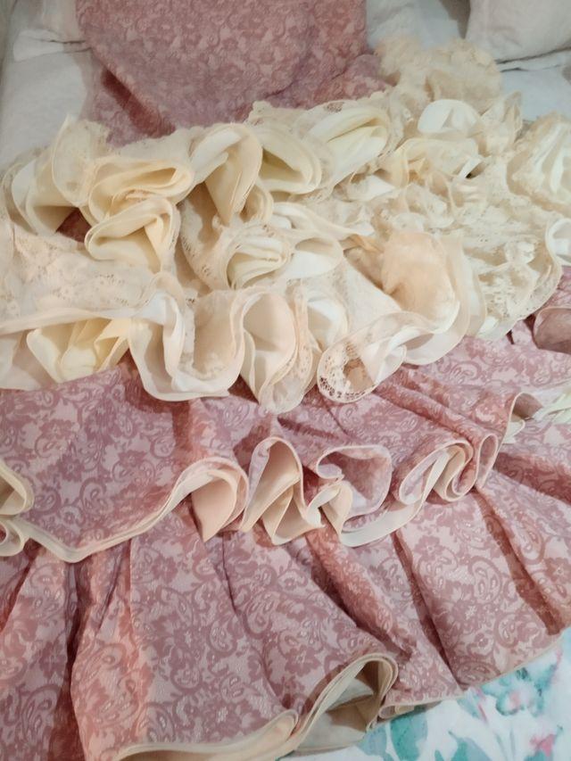 vestido traje de flamenca rociera