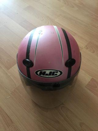 Casco de moto de niña