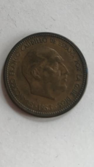 Moneda 1953 franco 2,5 pesetas
