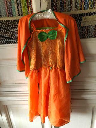 Disfraz de niña de calabaza para Halloween