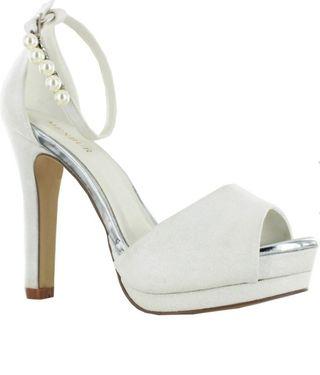 1f26567e Zapatos de novia con poco tacón de segunda mano en WALLAPOP
