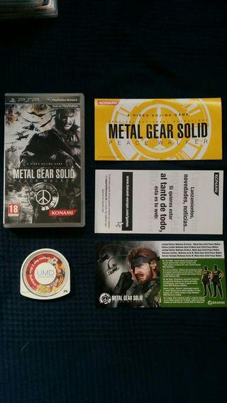 caja+manual metal gear solid peace walker psp