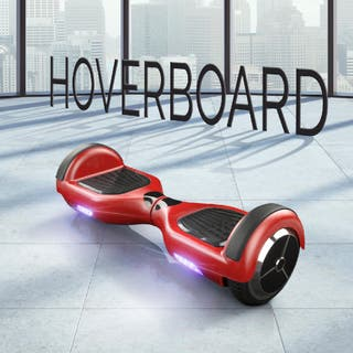 """Hoverboard patinete eléctrico 6,5"""" nuevo ROJO"""