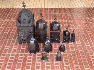 Farolillos árabes de diferentes tamaños