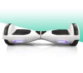 """Hoverboard patinete eléctrico 6,5"""" nuevo BLANCO"""