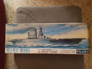 Maqueta barco, portaaviones LEXINGTON de Fujimi.