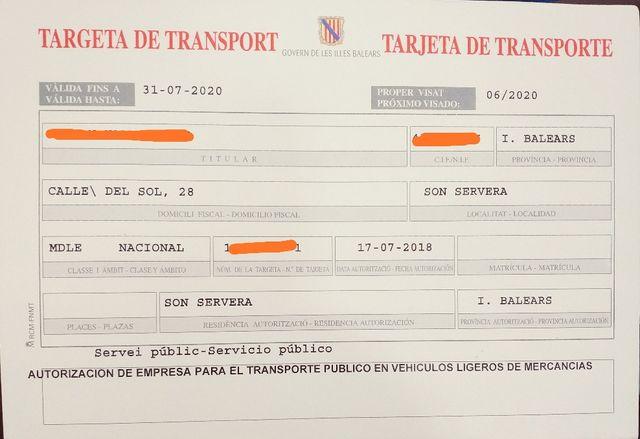 Tarjeta de transporte 2003 ligero, ligera, MDL