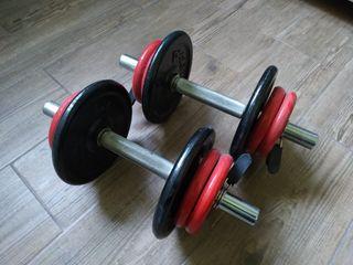 Mancuernas y pesas