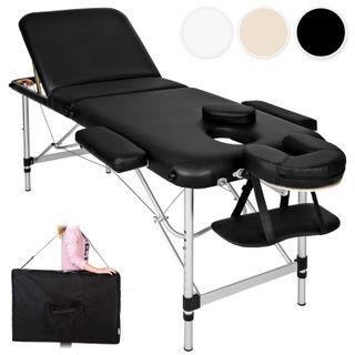Camilla de masaje Mesa Banco en aluminio 3 zonas +