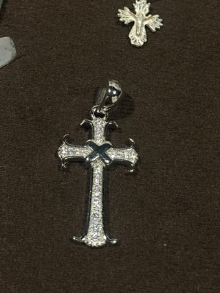 Colgantes de plata de ley cruz