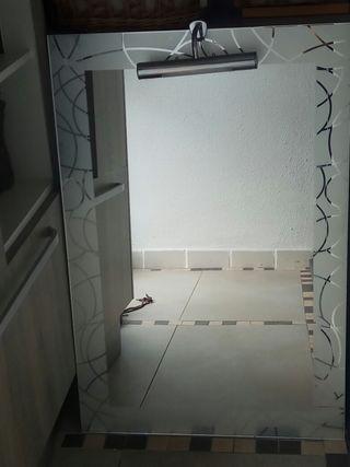 Espejos Para Bano Con Luz.Espejo De Bano Con Luz De Segunda Mano En Wallapop
