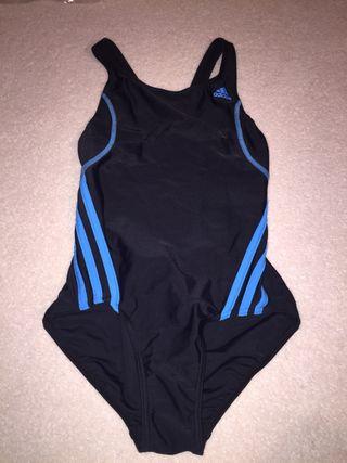 Black and blue swim suit