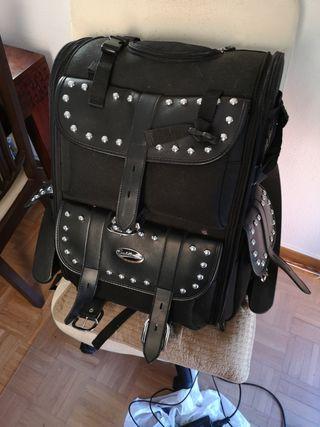 Baul moto custom sissy bar bag