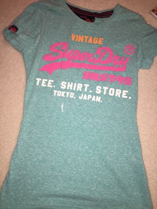 Turquoise blue Superdry t shirt