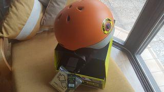 Oferta casco profesional Protec con luz trasera