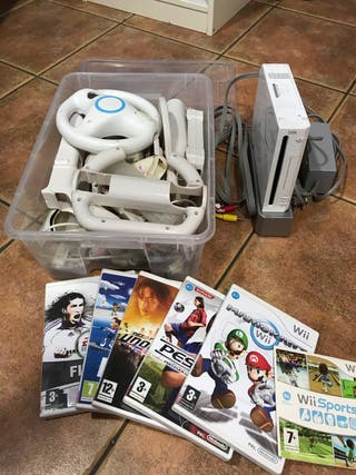 Consola wii + juegos + accesorios