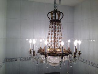 Lámpara antigua de cristal austriaco,unica