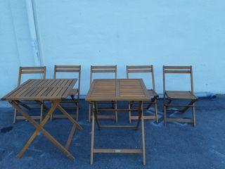 Mesa y sillas teka