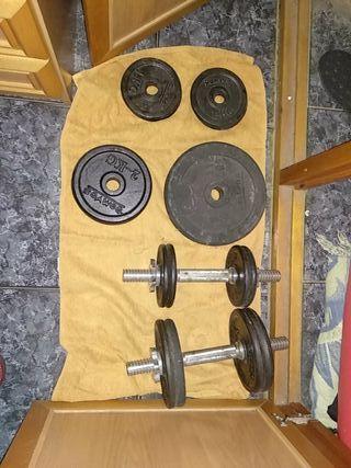 pesas o mancuernas