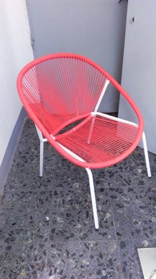 Silla Acapulco color rojo x2